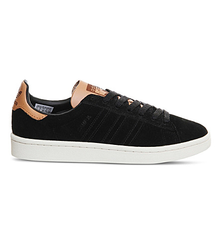 ADIDAS Campus suede trainers (Black+suede+tan