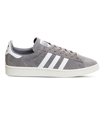 ADIDAS Campus suede trainers (Grey+chalk+white