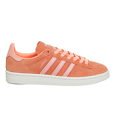 ADIDAS Campus suede trainers (Sun+glow+white