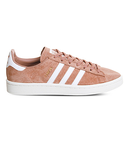 ADIDAS Campus suede trainers (Raw+pink+white