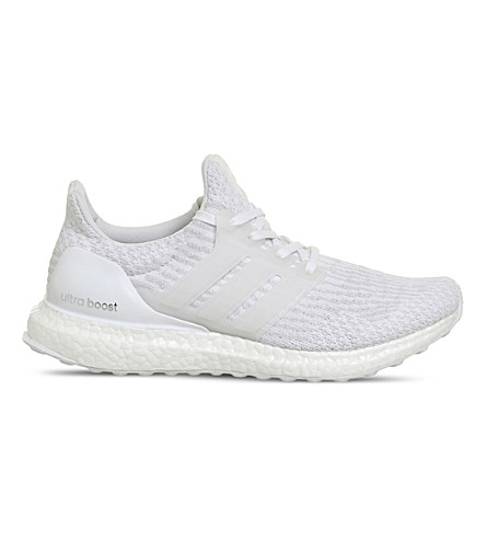 ADIDAS Ultra Boost woven trainers (White+mono
