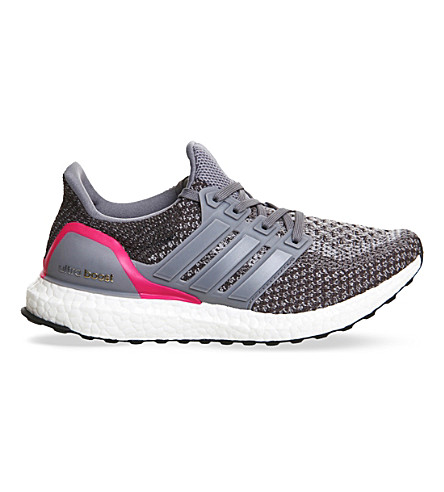 ADIDAS Ultra Boost knitted trainers (Grey shock pink