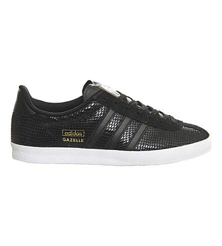 ADIDAS Gazelle OG leather trainers (Core black snake