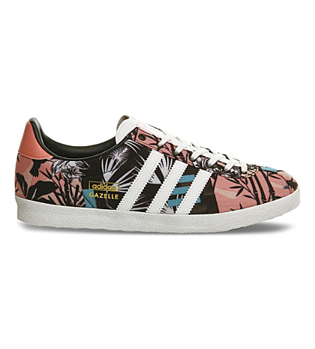 adidas gazelle woven trainers