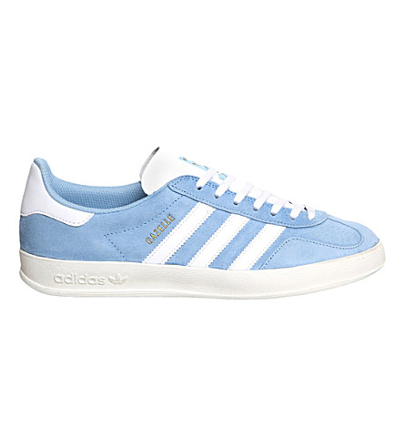 ADIDAS Gazelle Indoor suede trainers (Clear blue white sue