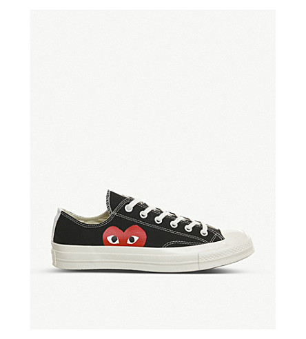 COMME DES GARCONS Converse 70s x play cdg trainers (Black