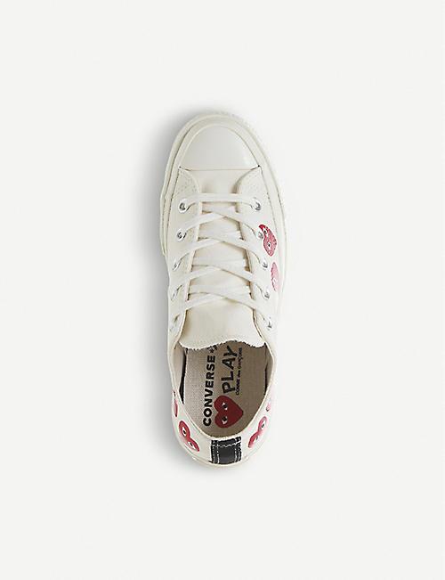 COMME DES GARCONS comme des Gar?ons x Converse 心印帆布运动鞋