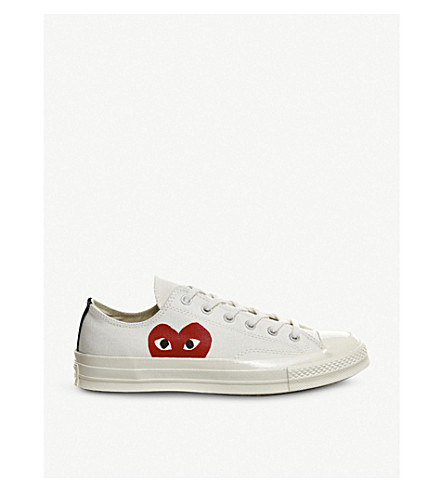 COMME DES GARCONS Converse 70s x play cdg trainers (Beige