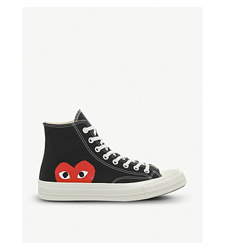 COMME DES GARCONS Converse high-top 70s x play cdg trainers (Black