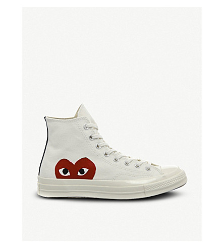 COMME DES GARCONS Converse high-top 70s x play cdg trainers (Beige