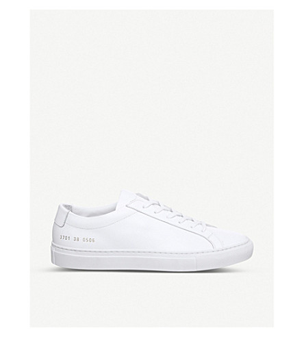 COMMON PROJECTS Original Achilles leather low-top trainers (White+mono