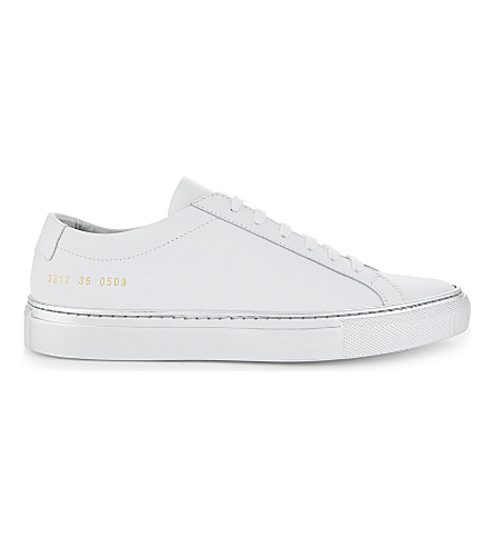 COMMON PROJECTS Achillies leather low-top trainers (White silver sole