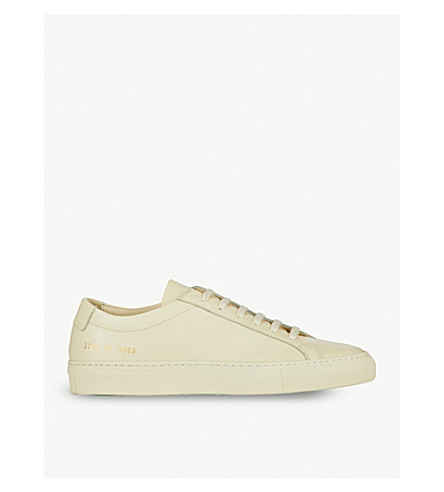 COMMON PROJECTS Original Achilles leather low-top trainers (Warm+white+leather