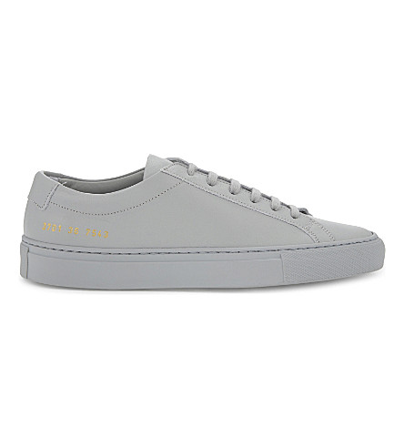 COMMON PROJECTS Original Achilles leather low-top trainers (Grey+mono