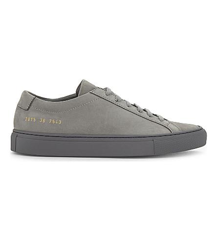 COMMON PROJECTS 原创 Achillies 砂低帮运动鞋 (灰色 + 单声道 + 砂
