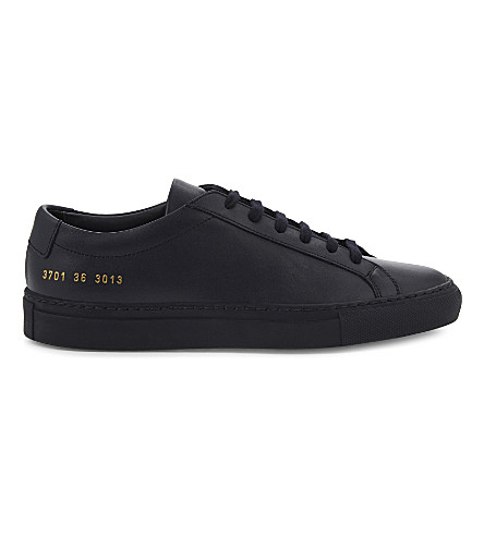 COMMON PROJECTS Original Achilles leather low-top trainers (Navy+mono