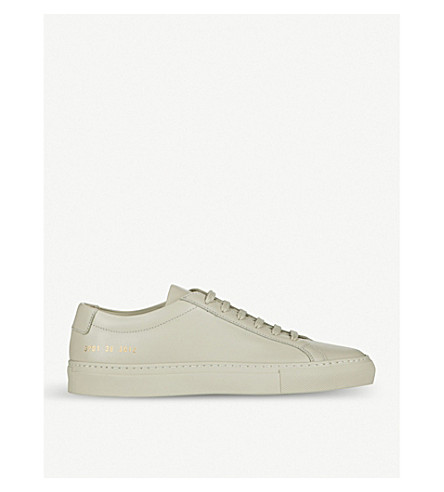 COMMON PROJECTS Achilles low-top leather trainers (Carta+leather+mono