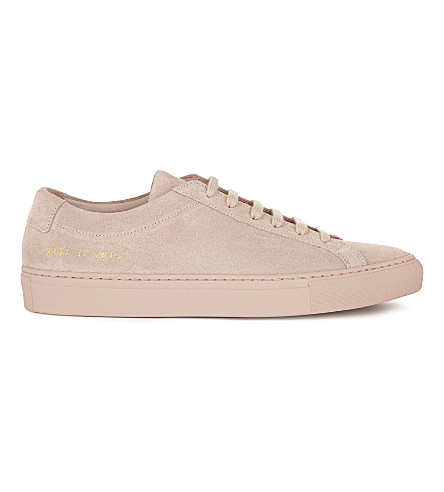 COMMON PROJECTS Original Achilles suede low-top trainers (Blush+pink+suede