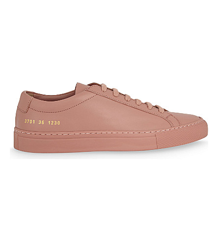 COMMON PROJECTS Original Achillies leather low-top trainers (Antique+rose