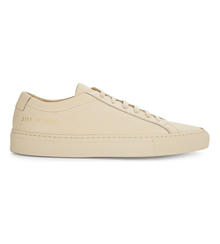 COMMON PROJECTS Original Achilles low-top trainers (Nude+leather
