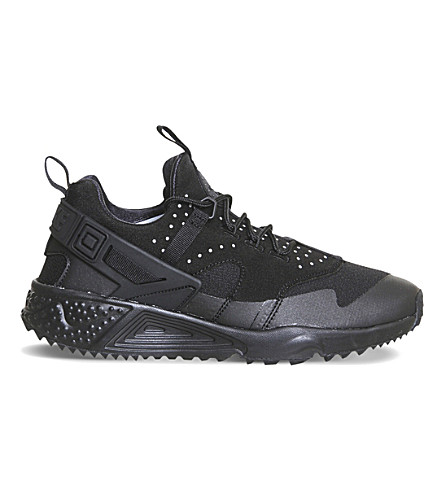NIKE Air Huarache Utility trainers (Triple+black