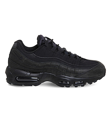 NIKE Air max 95 suede and mesh trainers (Black+mono+prm