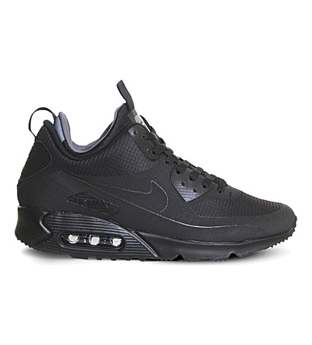 NIKE Air Max 90 mid winter trainers (Black+black