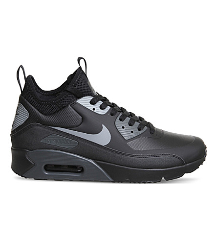 NIKE Air Max 90 Mid Winter trainers (Black+cool+grey