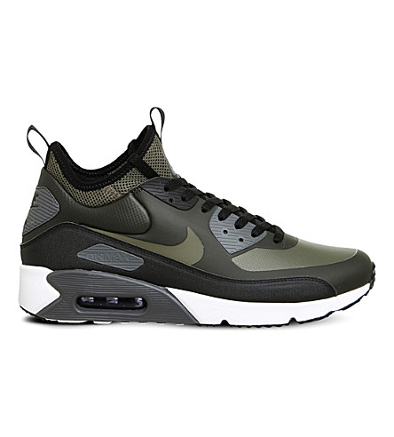 NIKE Air Max 90 Mid Winter trainers (Sequoia+medium+olive
