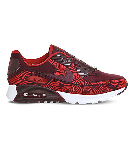 NIKE Shanghai Air Max 90 Ultra leather trainers (Shanghai+maroon+lotc