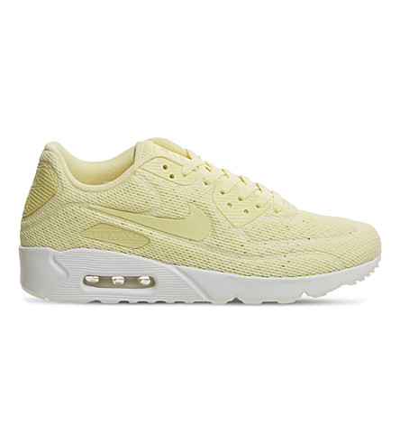 NIKE Air Max 90 Ultra BR mesh trainers (Lemon+chiffon+lemon