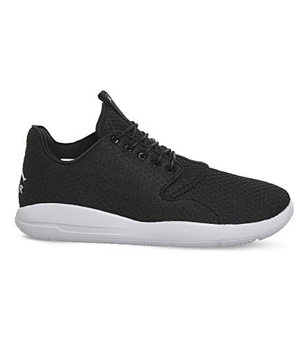 NIKE Jordan Eclipse lace-up mesh sneakers (Black+grey