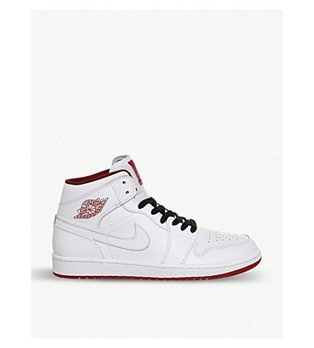 NIKE Air Jordan 1 leather trainers (White gym red
