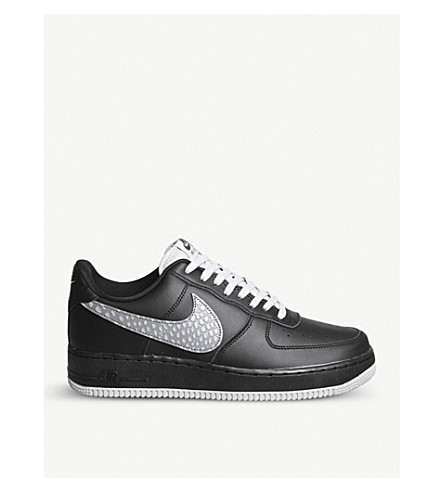 NIKE Air Force 1 leather trainers (Black+sail+gum