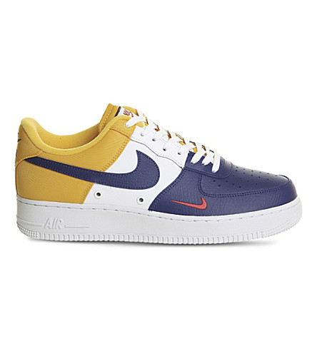 NIKE Air Force 1 Lv8 leather trainers (Deep+royal+blue+gold