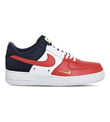 NIKE Air Force 1 Lv8 leather trainers (Red+navy+white+gold