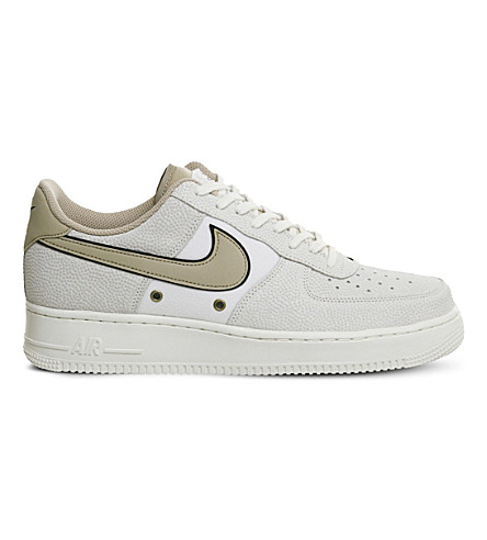 NIKE Air Force 1 Lv8 leather trainers (Sail+linen
