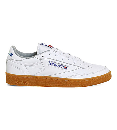 REEBOK Club C 85 leather trainers (White+reebok+blue