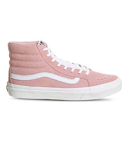 VANS Sk8 Hi slim leather trainers (Blossom+true+white