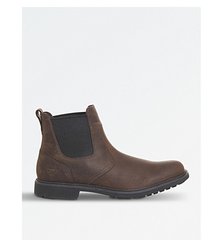 TIMBERLAND Stormbuck leather chelsea boots (Dark+brown+leather