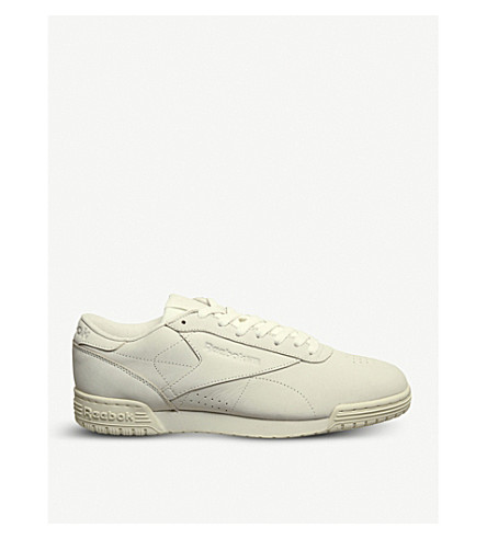 REEBOK Ex-O-Fit low-top leather trainers (Chalk+paper+white