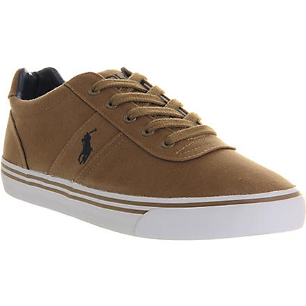 RALPH LAUREN Hanford cotton canvas trainers (Brown