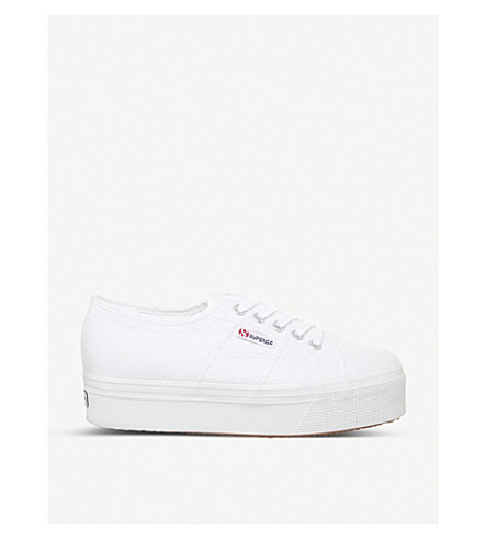SUPERGA 2790 flatform canvas sneakers (White