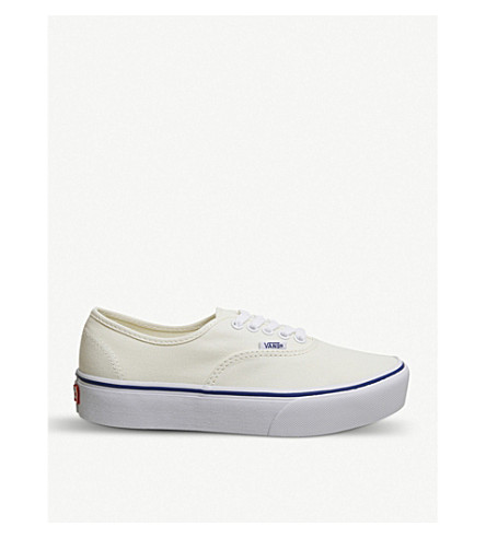VANS Authentic Platform canvas trainers (Classic+white