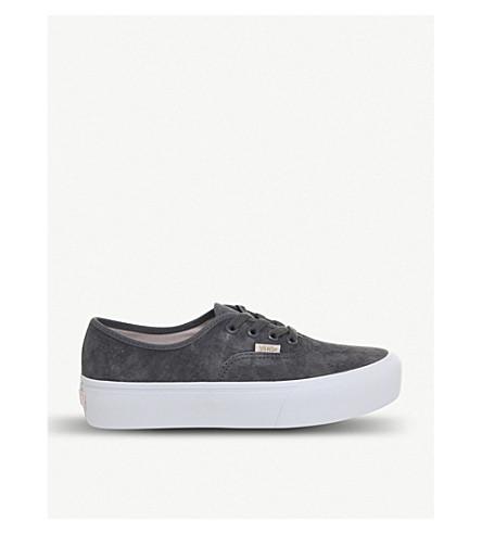VANS 正宗绒面革平台运动鞋 (卡斯尔罗克 + 白色