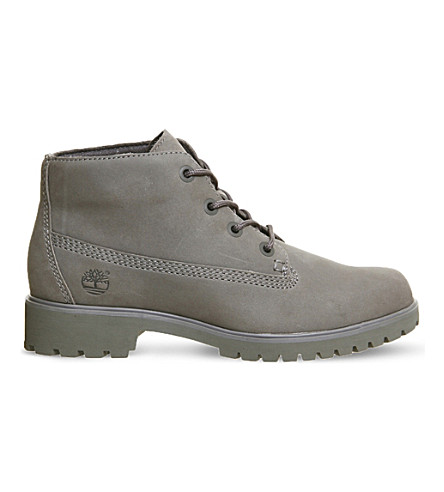 TIMBERLAND Slim Nellie nubuck leather chukka boots (Grey nubuck