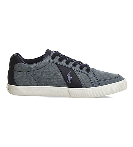 POLO RALPH LAUREN Hugh cotton trainers (Blue chambray