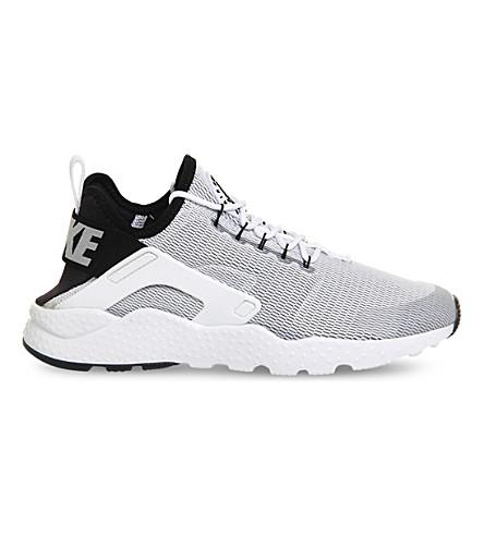 NIKE Air huarache run ultra mesh trainers (White black