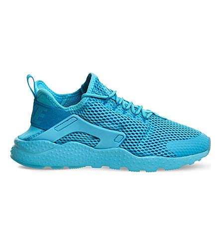 NIKE Air huarache run ultra leather and neoprene trainers (Gamma blue breathe