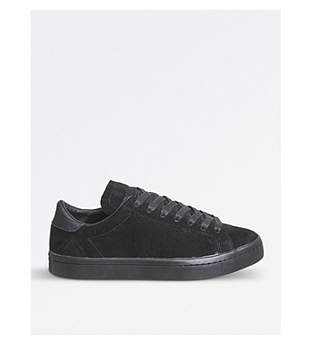 ADIDAS Court vantage leather trainers (Black+mono+suede
